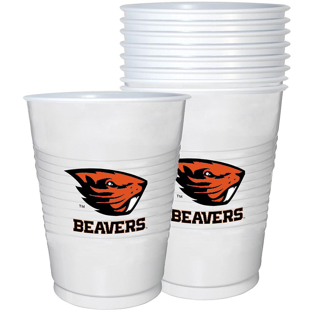 Oregon State Beavers Plastic Cups 8ct Image #1