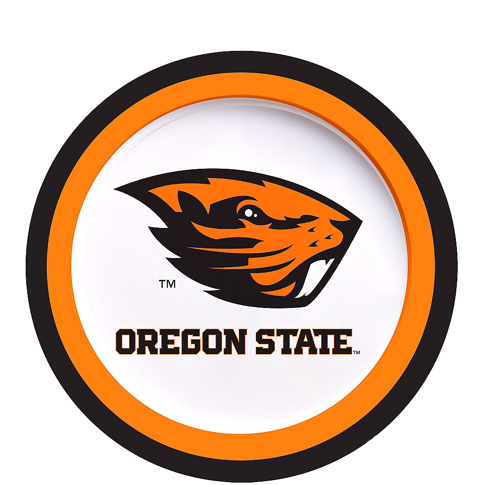 Nav Item for Oregon State Beavers Dessert Plates 12ct Image #1