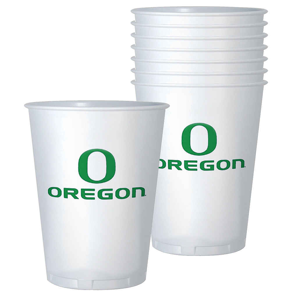 Oregon Ducks Plastic Cups 8ct Image #1
