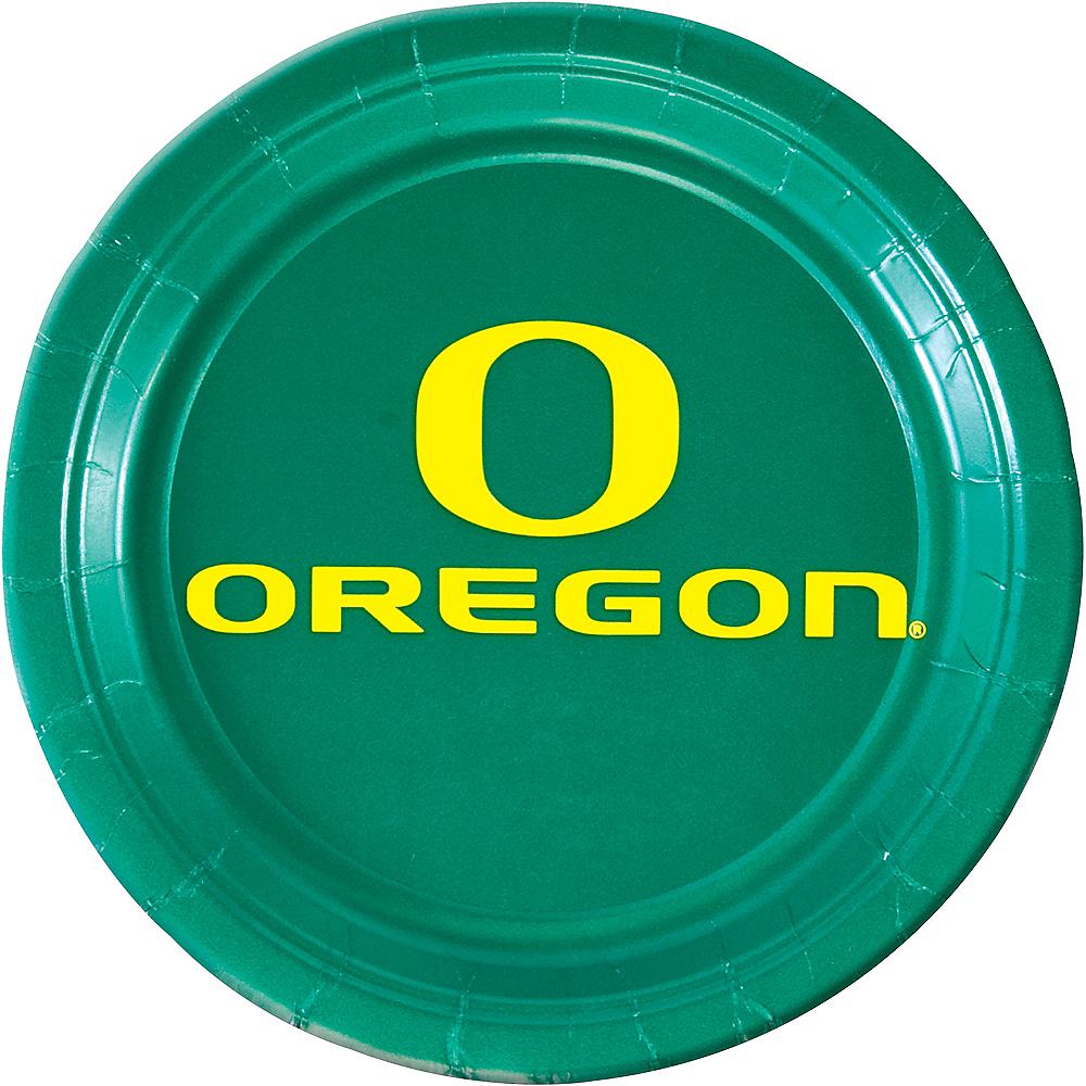 Nav Item for Oregon Ducks Lunch Plates 10ct Image #1