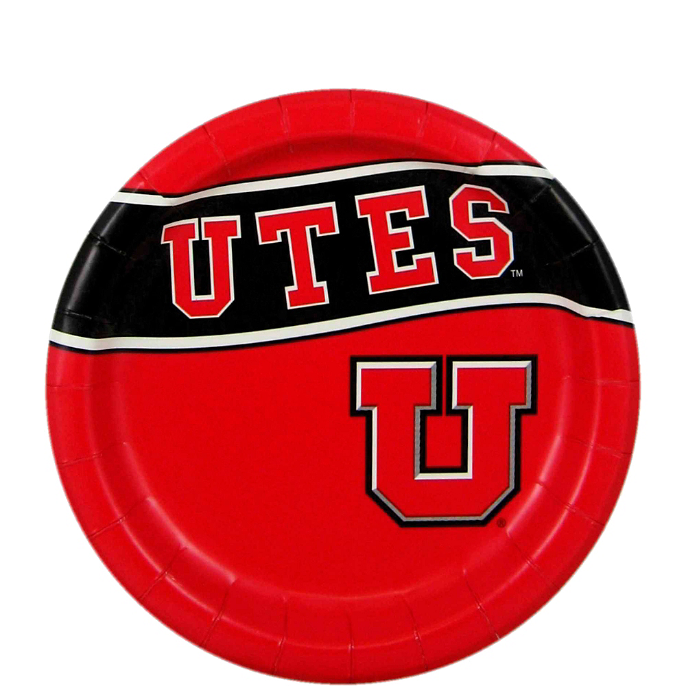 Nav Item for Utah Utes Dessert Plates 8ct Image #1