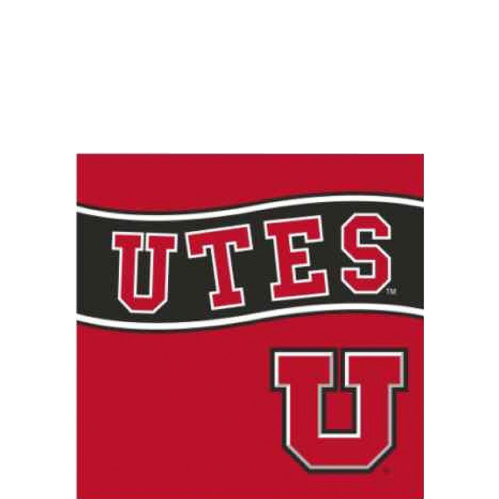 Utah Utes Beverage Napkins 24ct Image #1