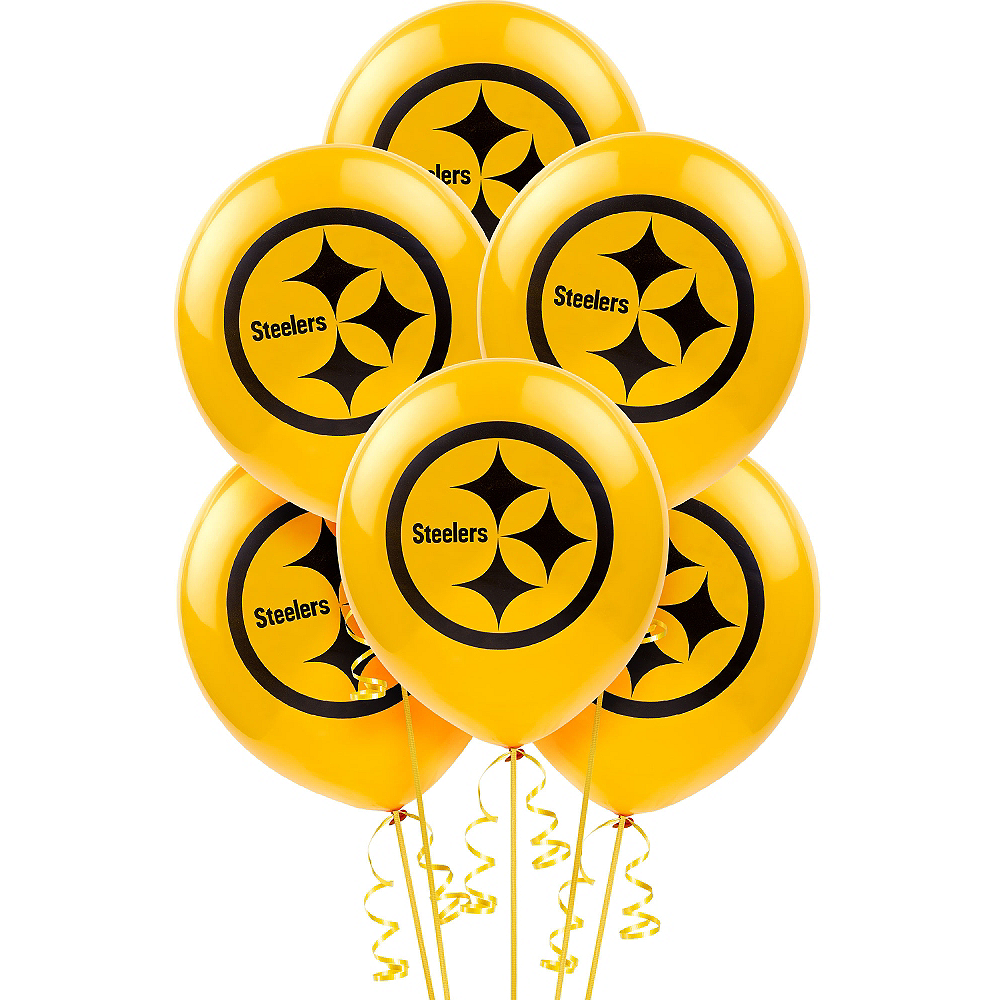 Pittsburgh Steelers Balloons 6ct Image #1