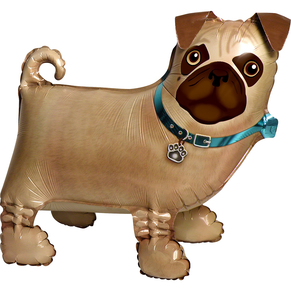 Precious Pug Balloon Buddy 19in x 17in Image #1