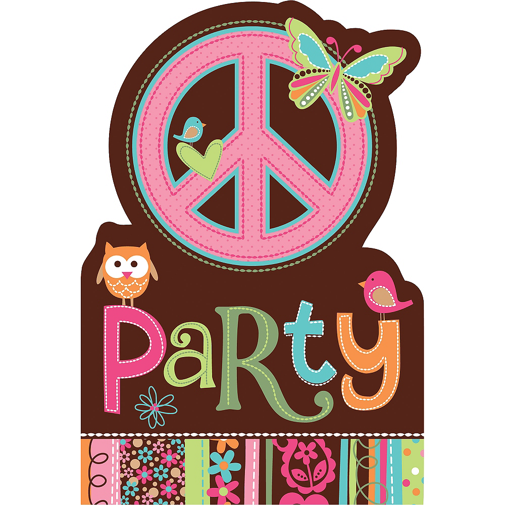 Hippie Chick Invitations 8ct Image #1