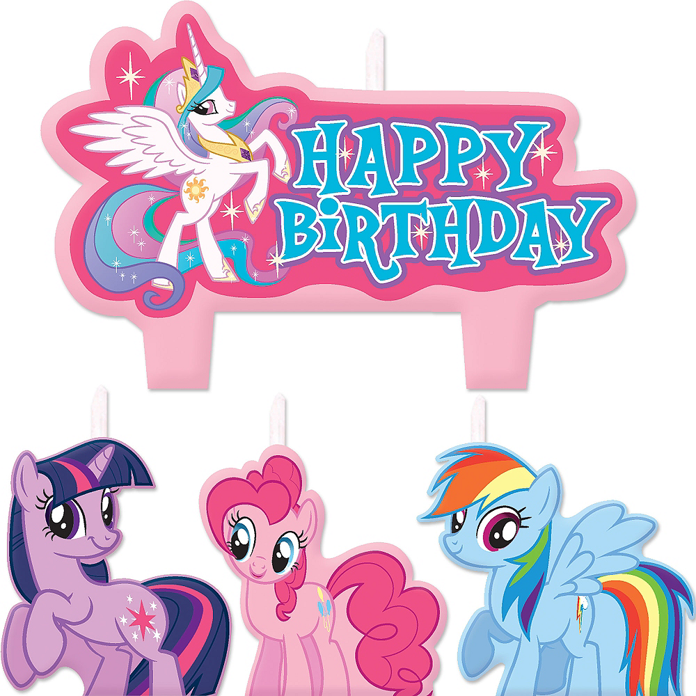 My Little Pony Birthday Candles 4ct Image 1