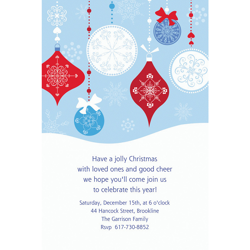 Custom Novel Ornaments Christmas Invitations Image #1