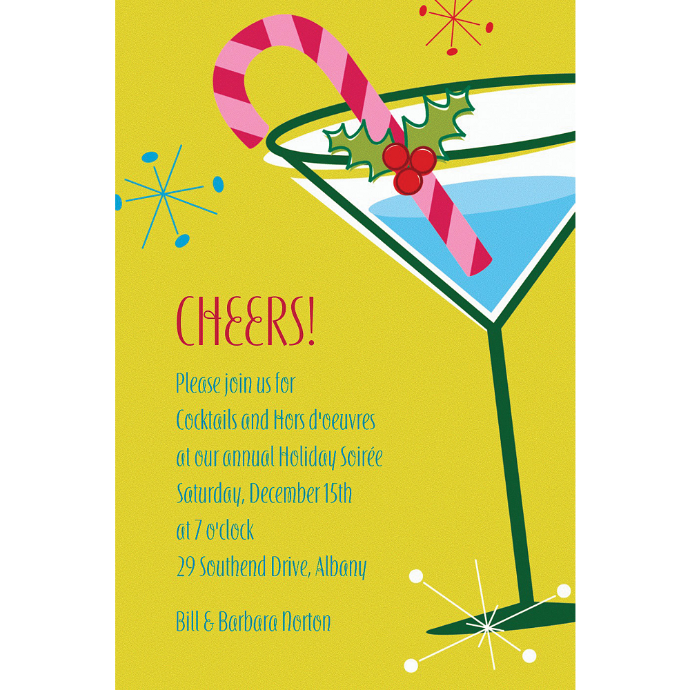 Custom Christmas Party Cocktail Invitations  Image #1