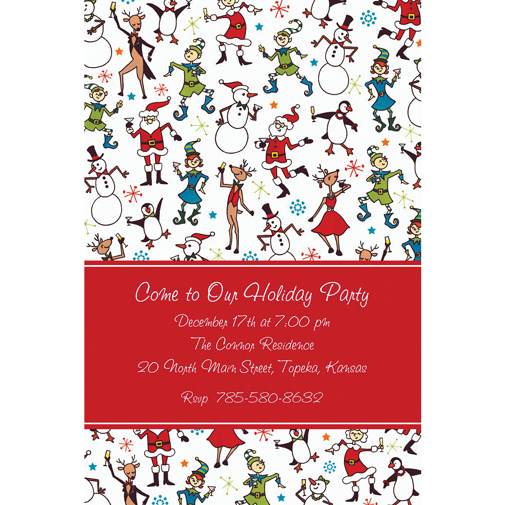 Nav Item for Custom Christmas Character Cocktails Invitations  Image #1