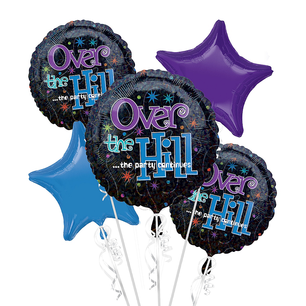 Happy Birthday Balloon Bouquet 5pc - The Party Continues Image #1