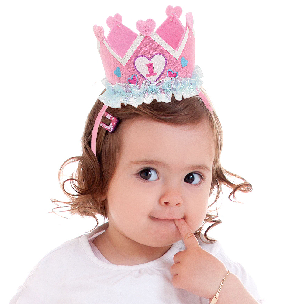 Nav Item for Princess 1st Birthday Headband Image  1 ... 68ac9547b87