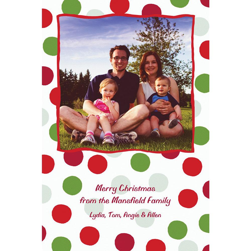 Custom Pert Polkadots Christmas Photo Card Image #1