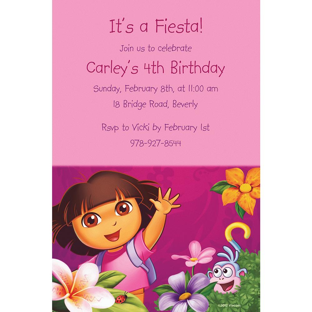 Custom Dora Flower Fun Invitations Image #1