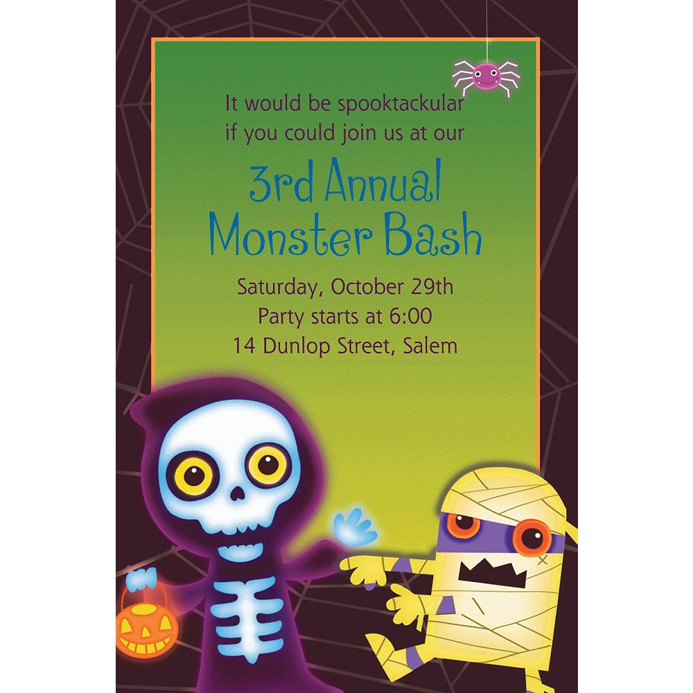 Custom Boo Crew Halloween Invitations Image #1
