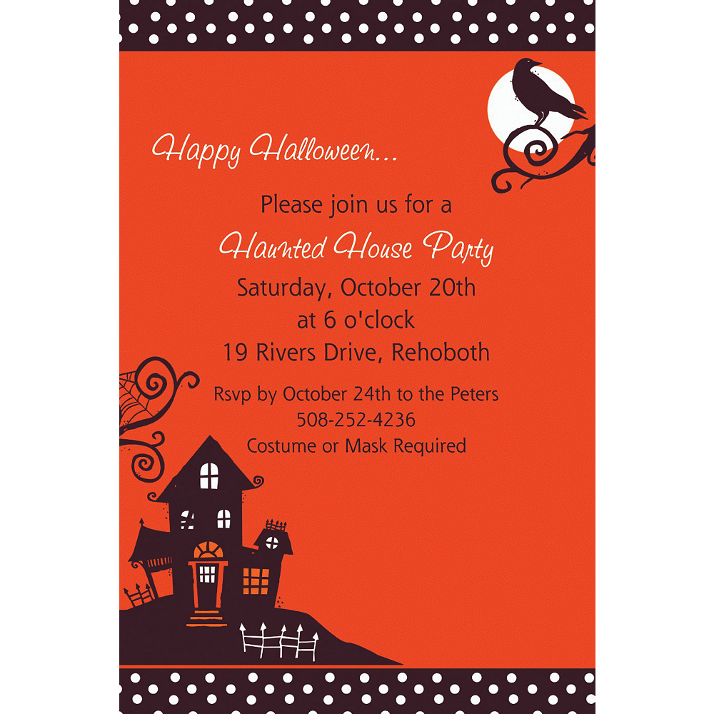 Nav Item for Custom Frightfully Fancy Halloween Invitations  Image #1