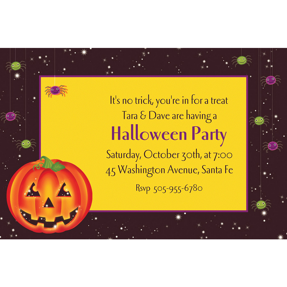 Custom Perfect Pumpkin Halloween Invitations Image #1