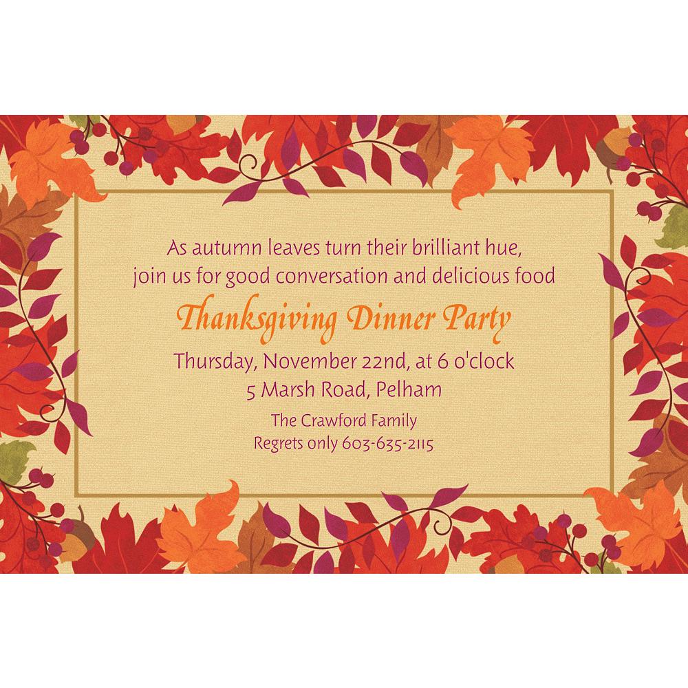 Custom Festive Fall Invitations Image #1