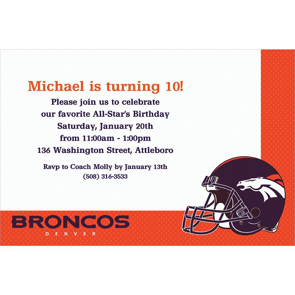 Custom Denver Broncos Invitations Image 1