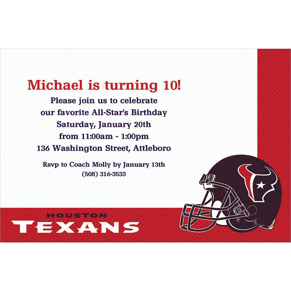 Custom Houston Texans Invitations Image #1