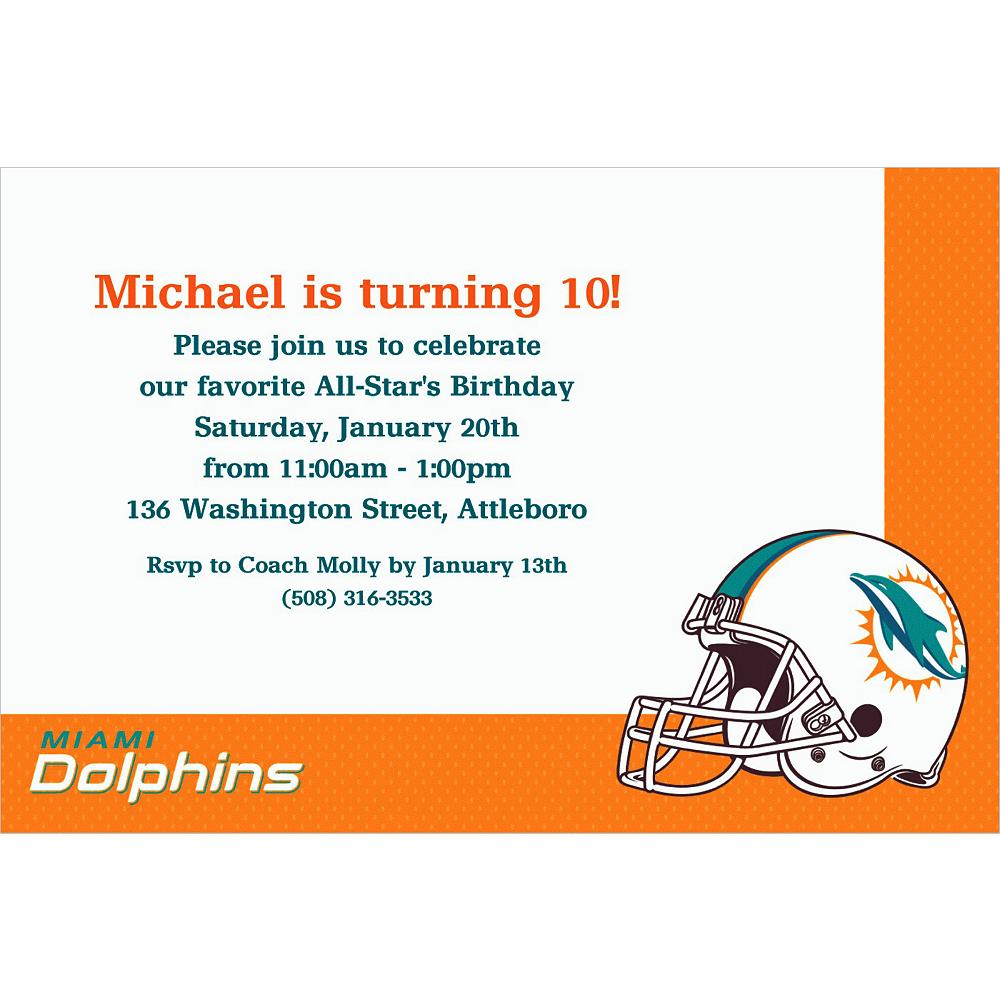 Custom Miami Dolphins Invitations | Party City