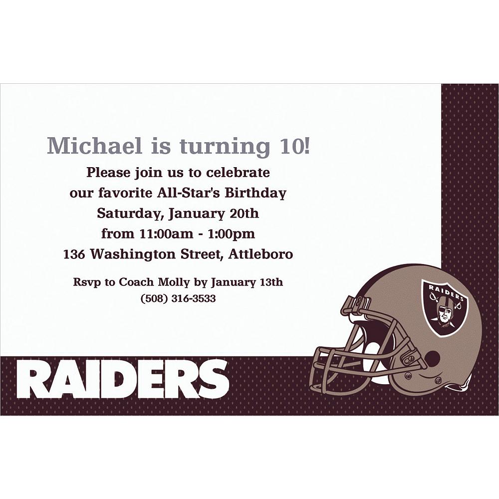 Custom Oakland Raiders Invitations Image #1