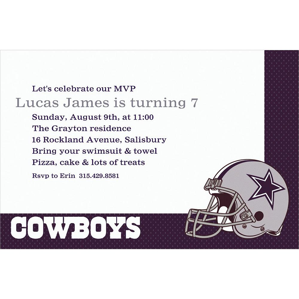 Custom Dallas Cowboys Invitations Image #1