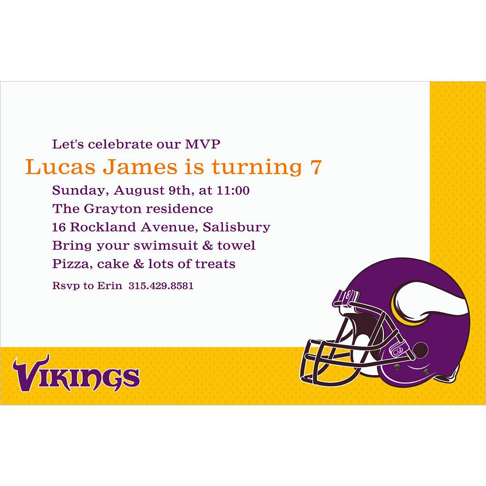Custom Minnesota Vikings Invitations Image #1