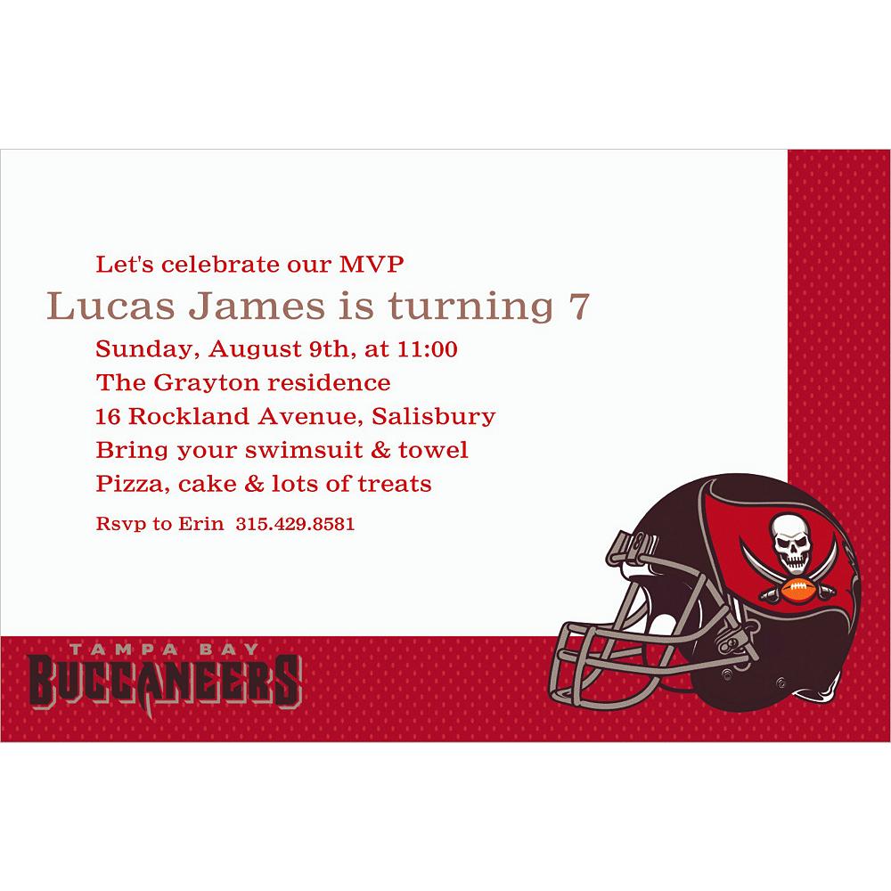 Custom Tampa Bay Buccaneers Invitations Image #1