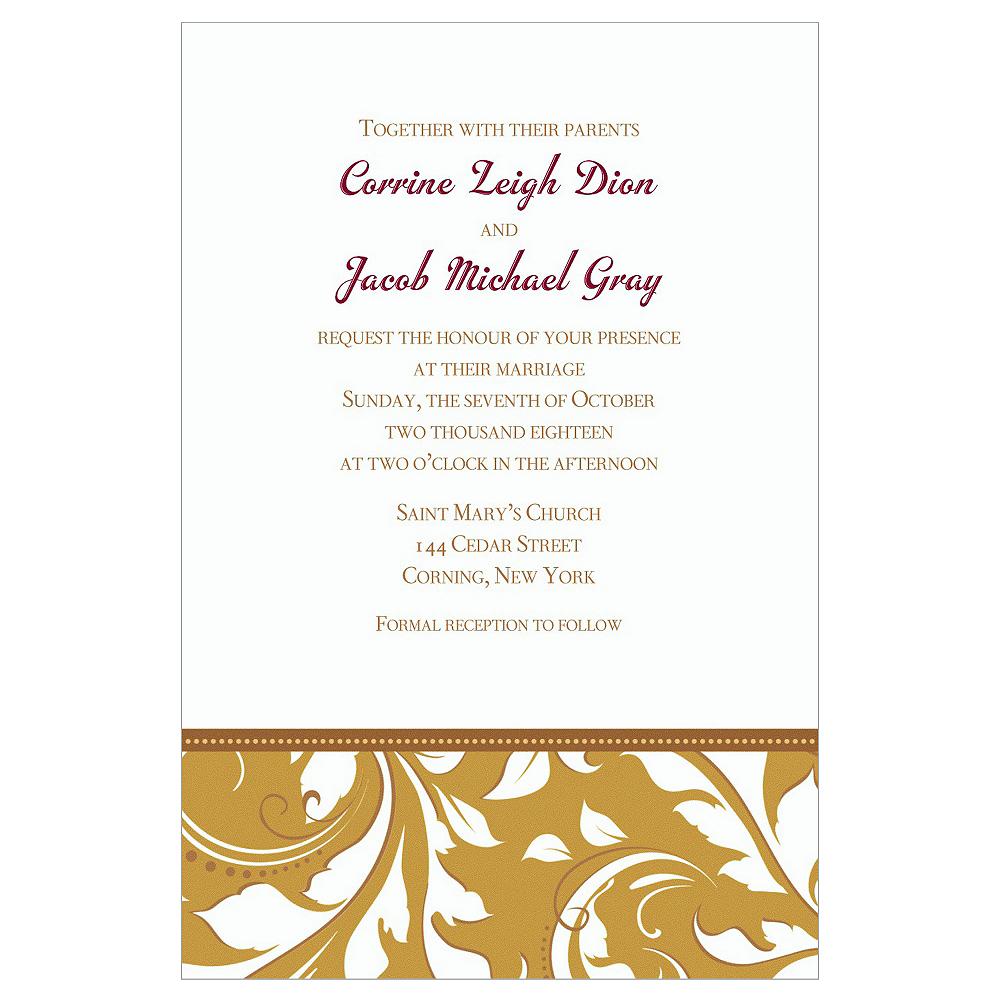 Custom Golden Wedding Invitations Image #1
