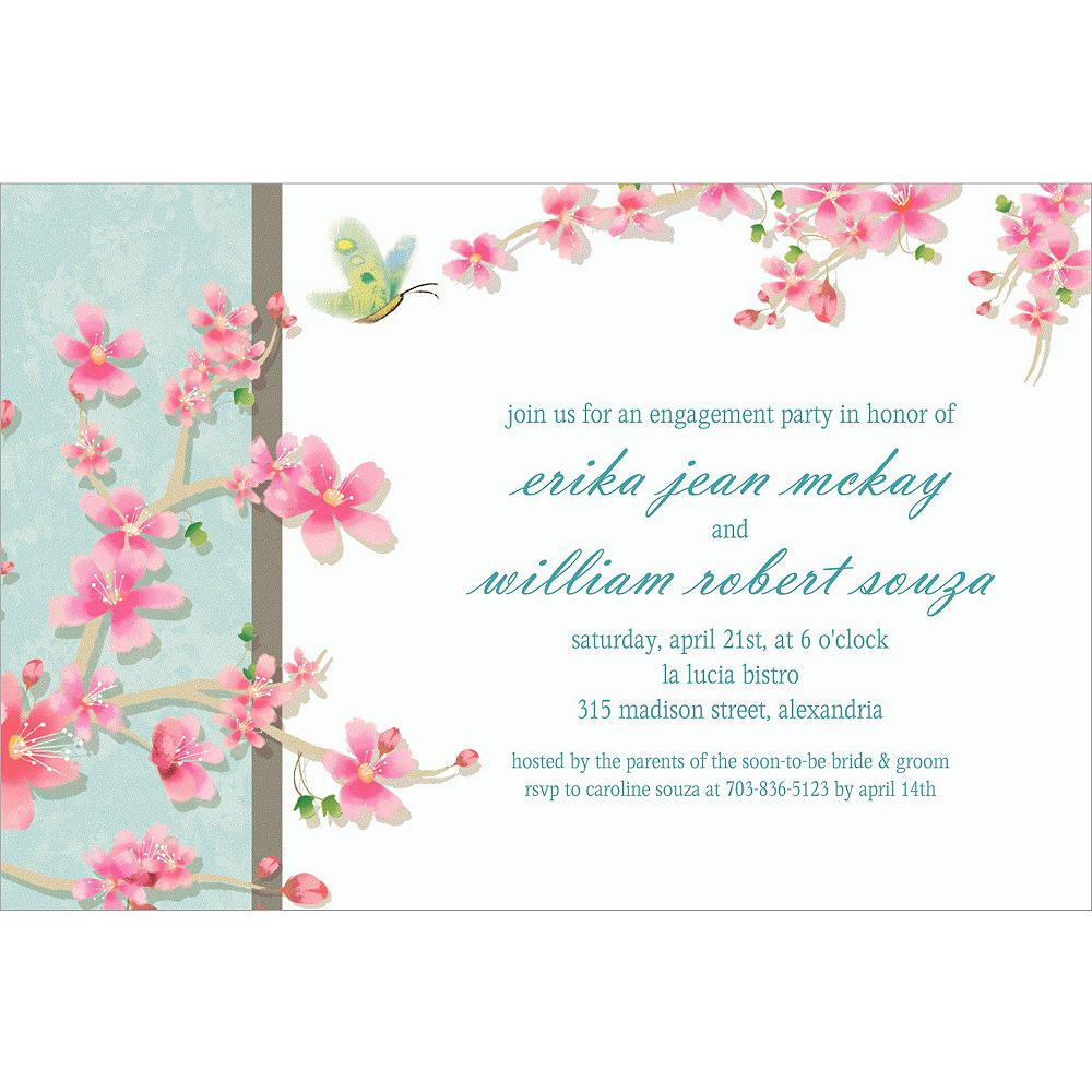 Custom Cherry Blossom Love Wedding Invitations Image #1