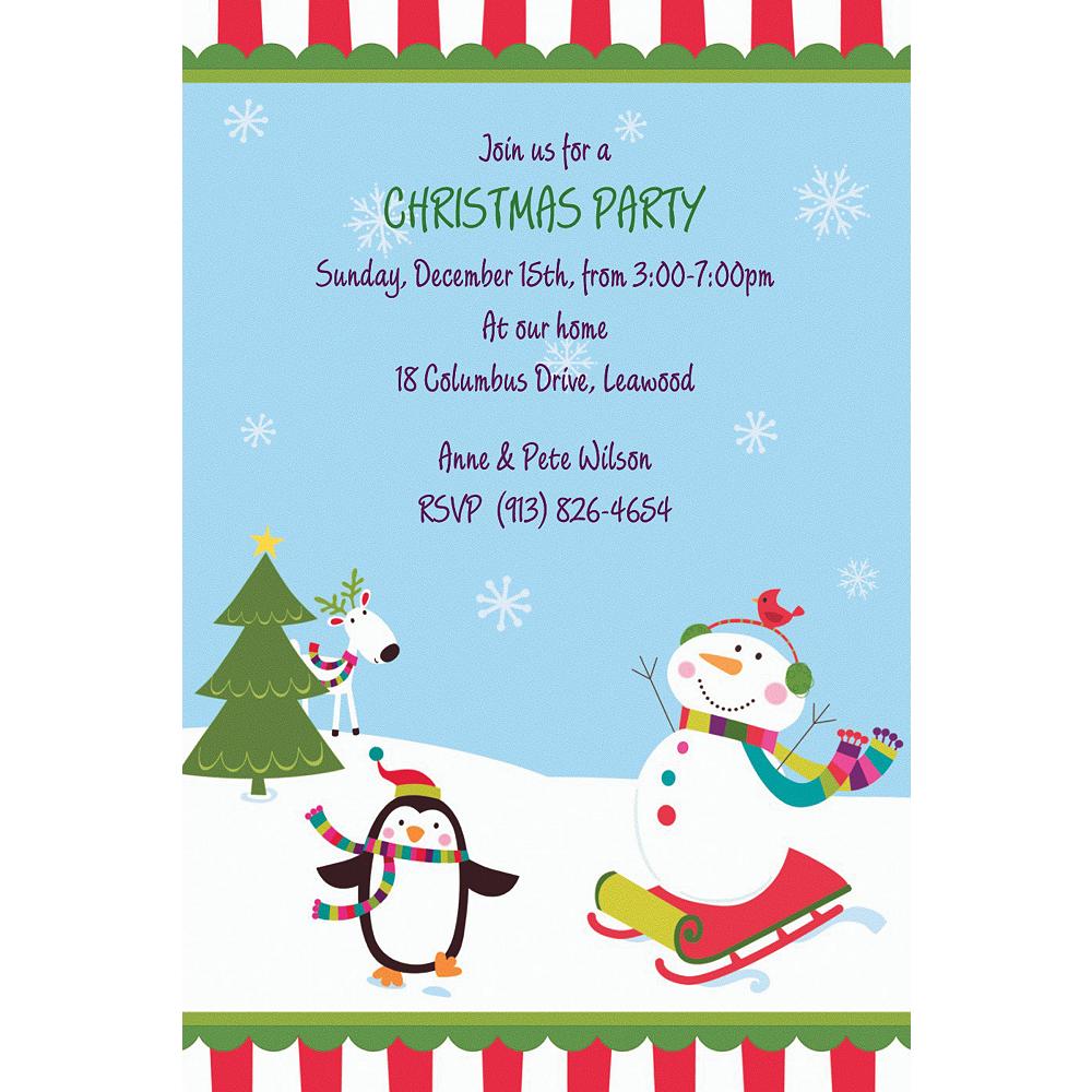 Custom Joyful Snowman Invitations Image #1
