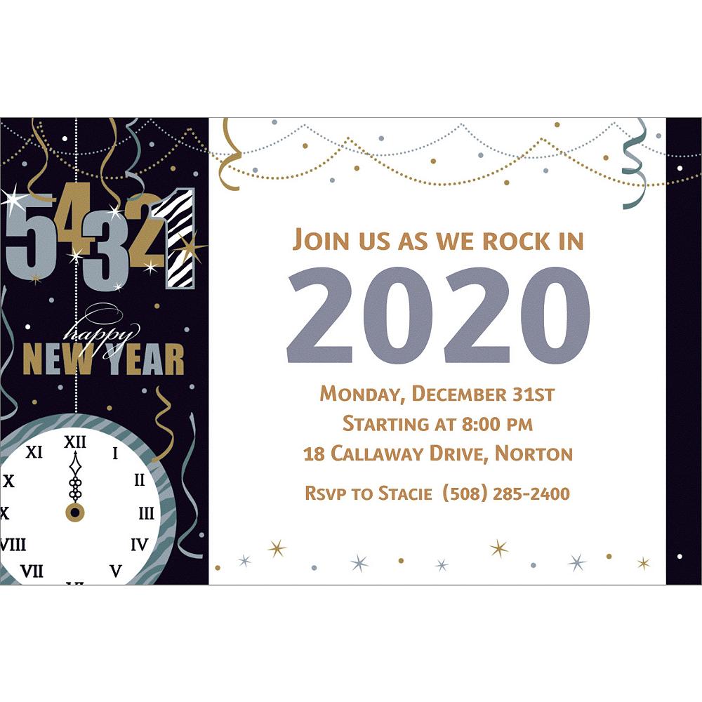 Custom Wild Countdown New Year's Invitations Image #1