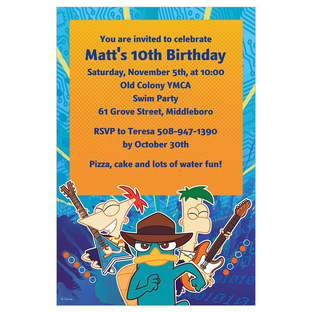 Custom Phineas & Ferb Invitations Image #1