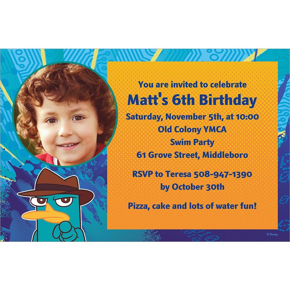 Custom Phineas & Ferb Photo Invitations Image #1