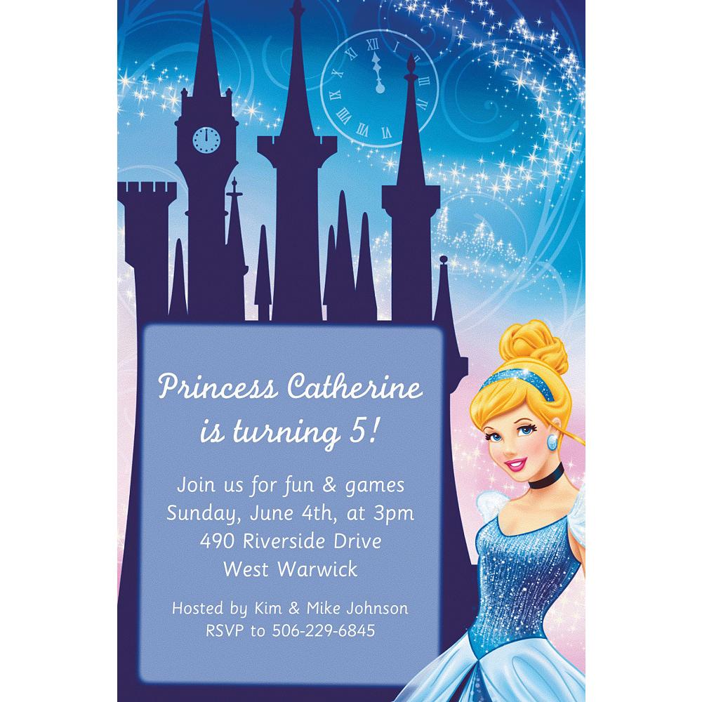 custom cinderella invitations party city
