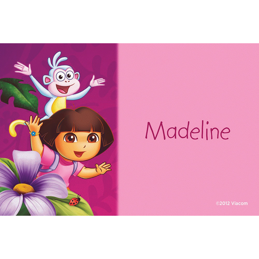 Custom Dora Flower Fun Thank You Notes Image #1