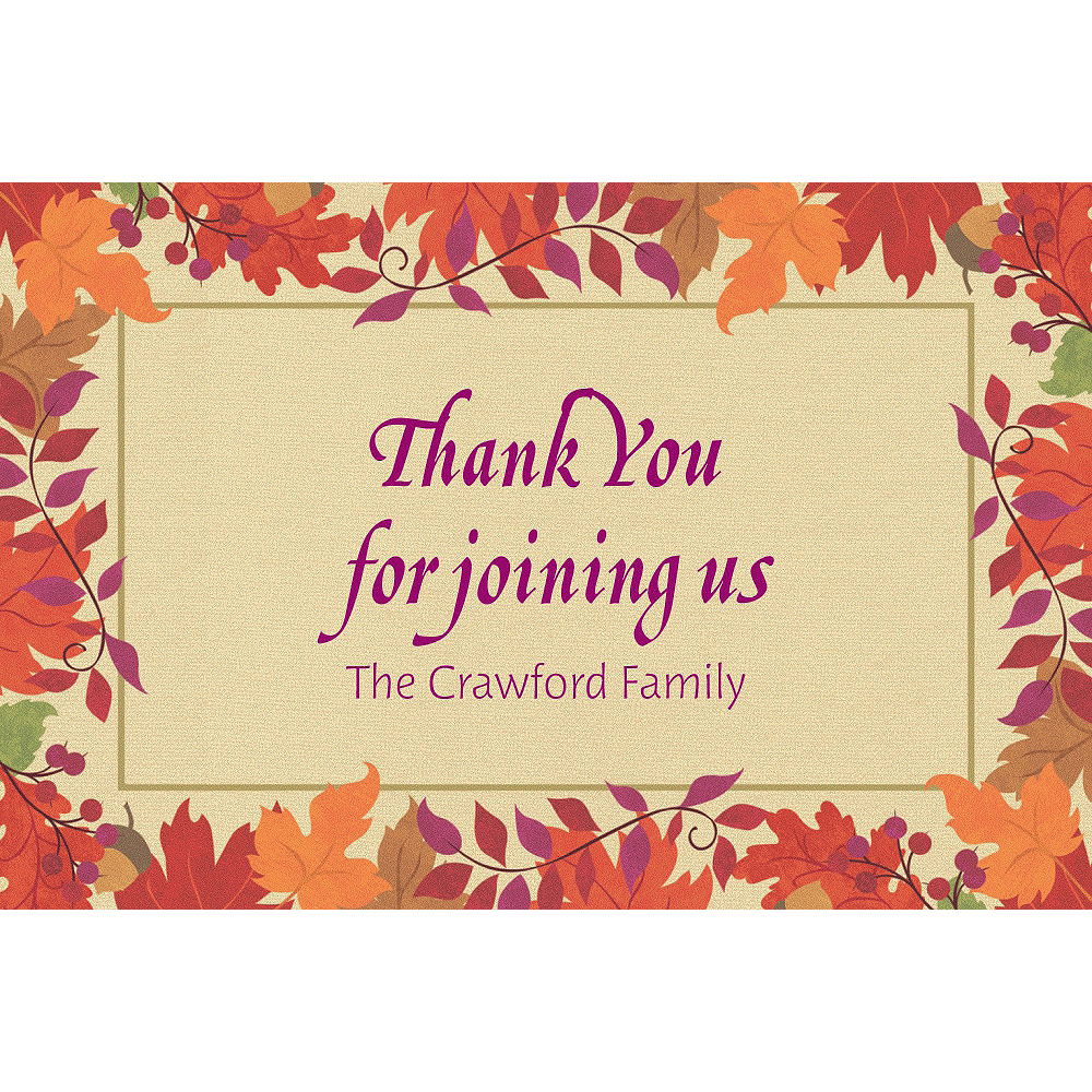 Custom Festive Fall Thank You Notes  Image #1