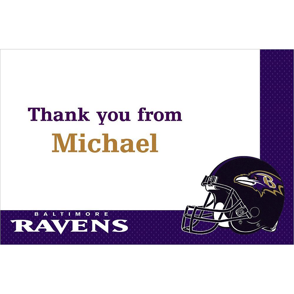 Custom Baltimore Ravens Thank You Notes Image #1