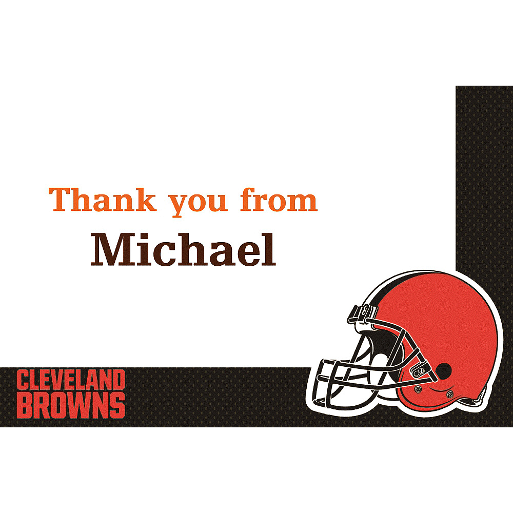 b34e108e Custom Cleveland Browns Thank You Notes | Party City