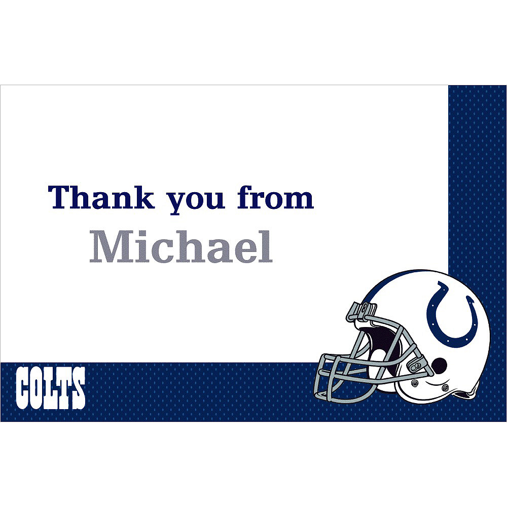 Custom Indianapolis Colts Thank You Notes Image #1
