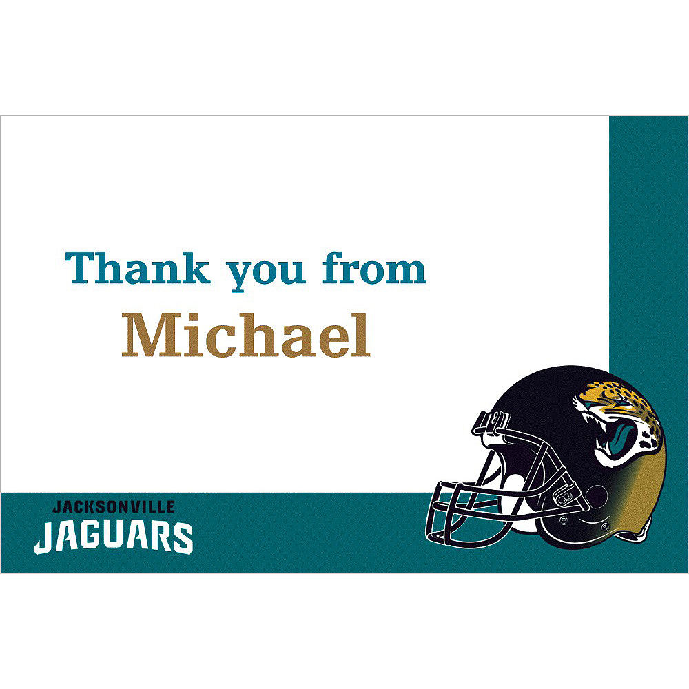 Custom Jacksonville Jaguars Thank You Notes Image #1