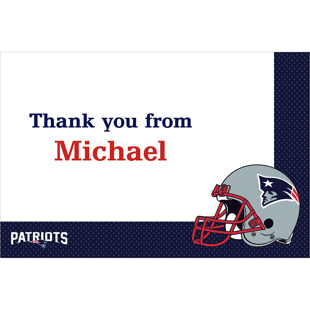 Custom New England Patriots Thank You Notes Image #1