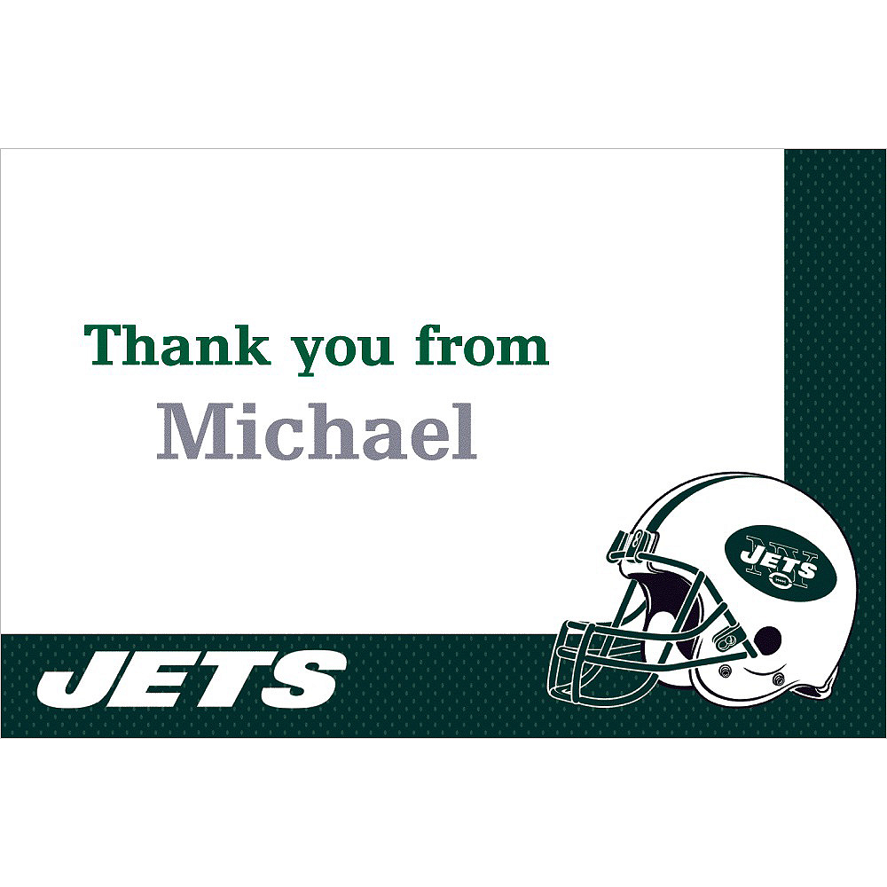 Custom New York Jets Thank You Notes Image #1
