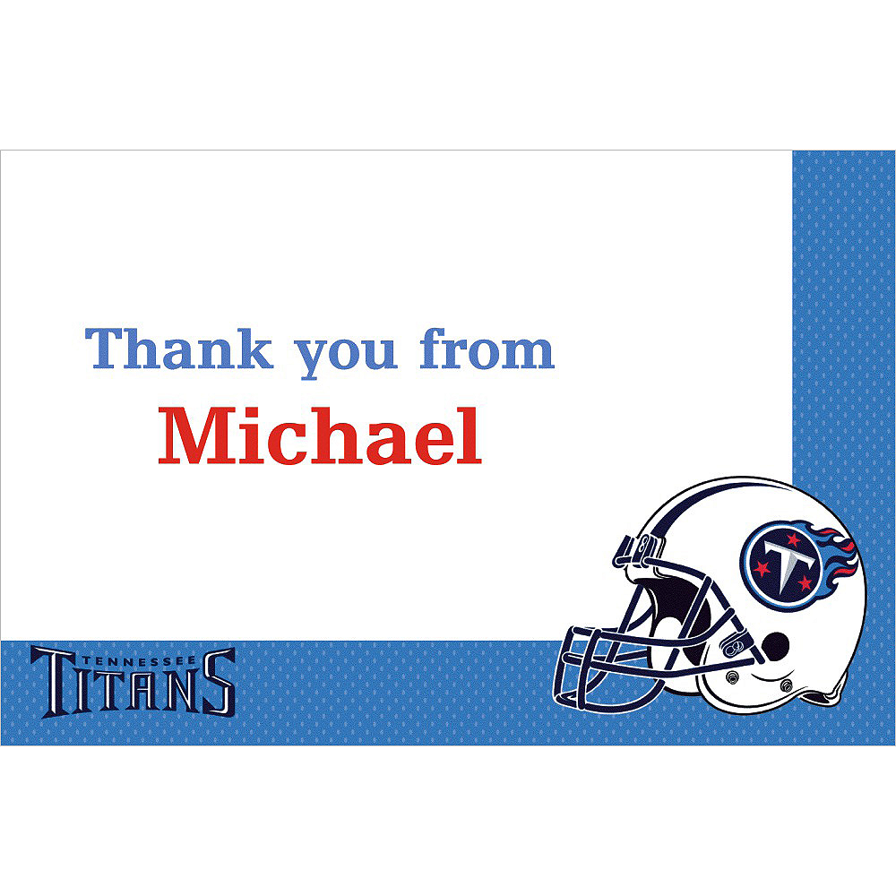 Custom Tennessee Titans Thank You Notes Image #1