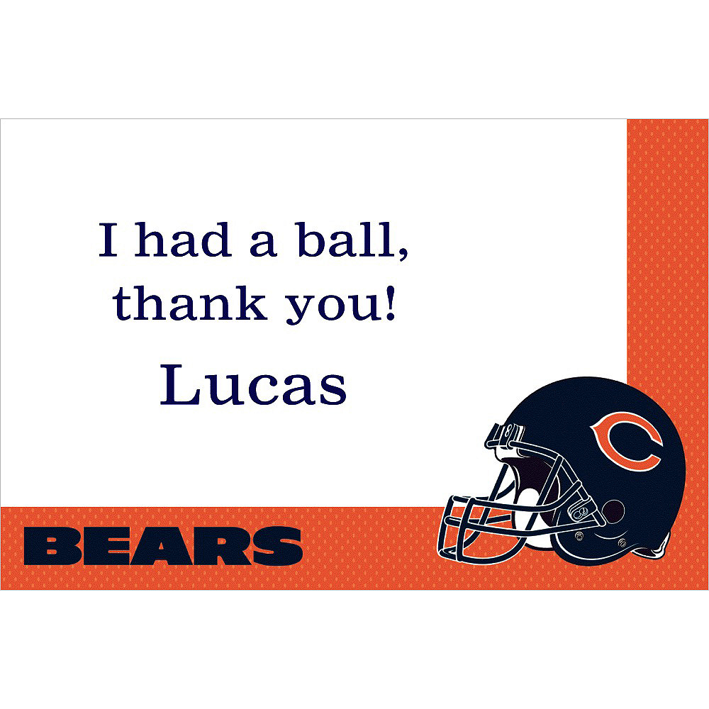 Custom Chicago Bears Thank You Notes Image #1