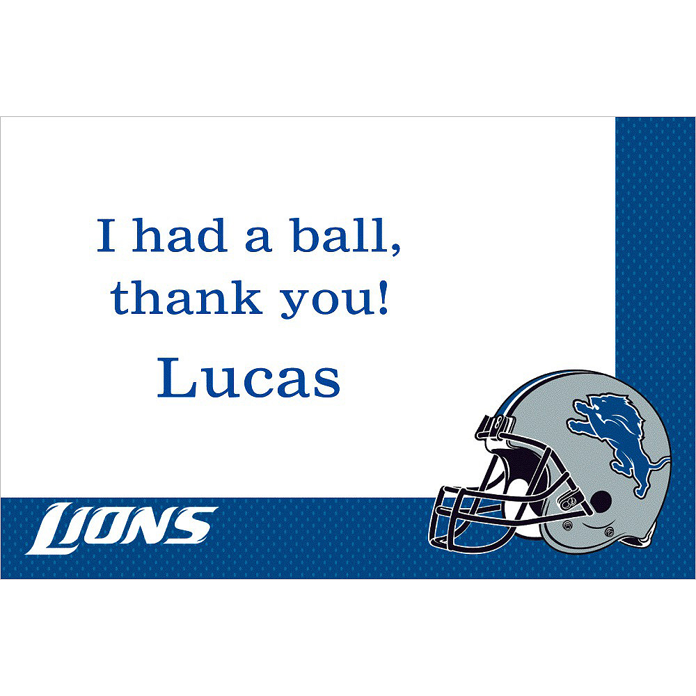 Custom Detroit Lions Thank You Notes Image #1