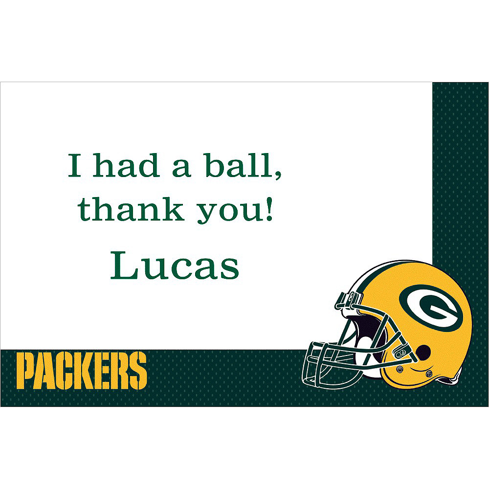 Custom Green Bay Packers Thank You Notes Image #1