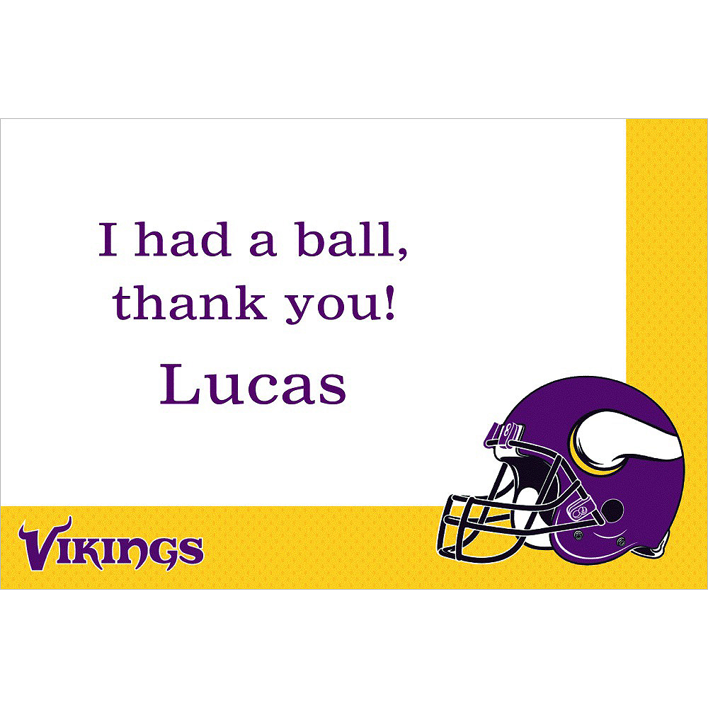 Custom Minnesota Vikings Thank You Notes Image #1