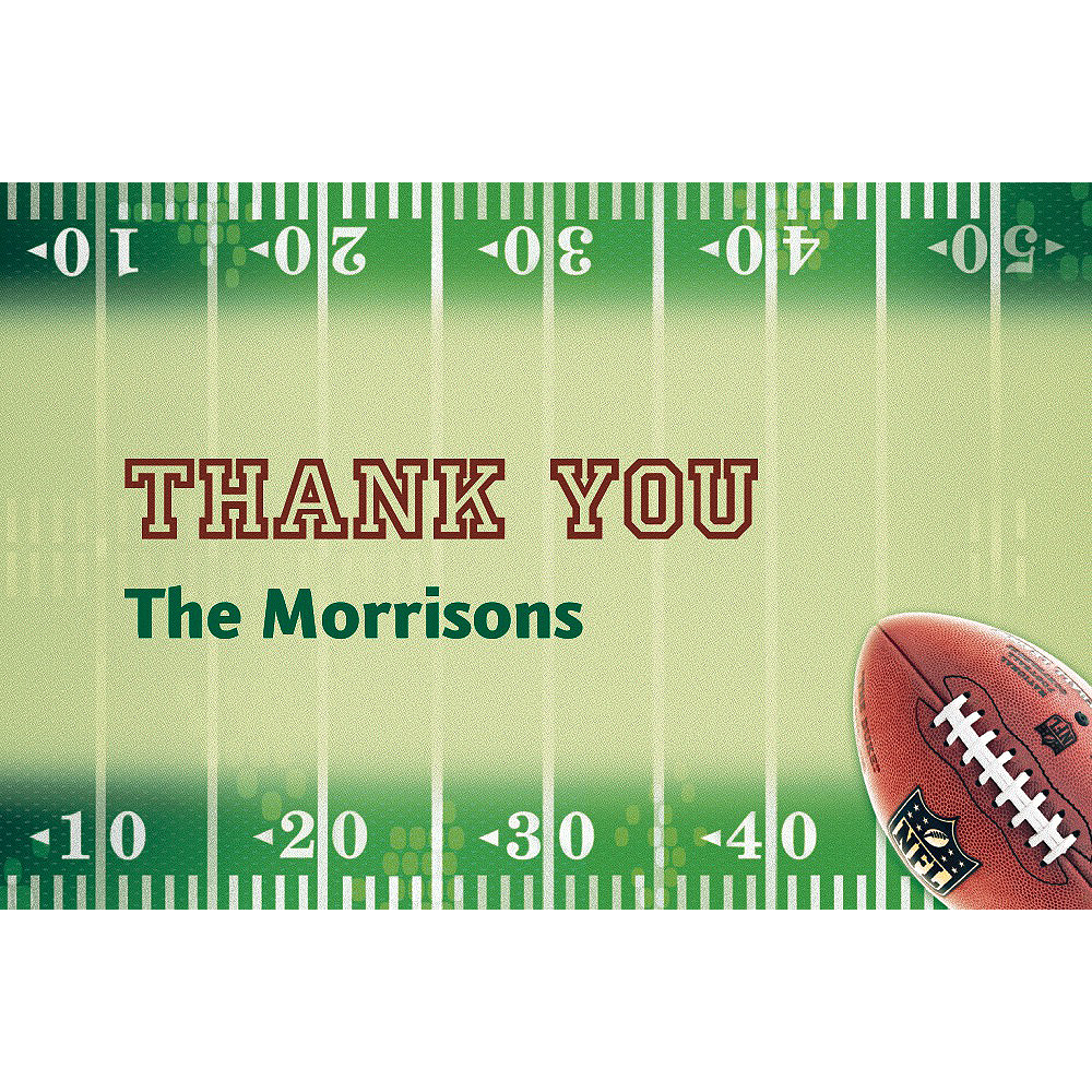 Custom NFL Drive Thank You Notes Image #1