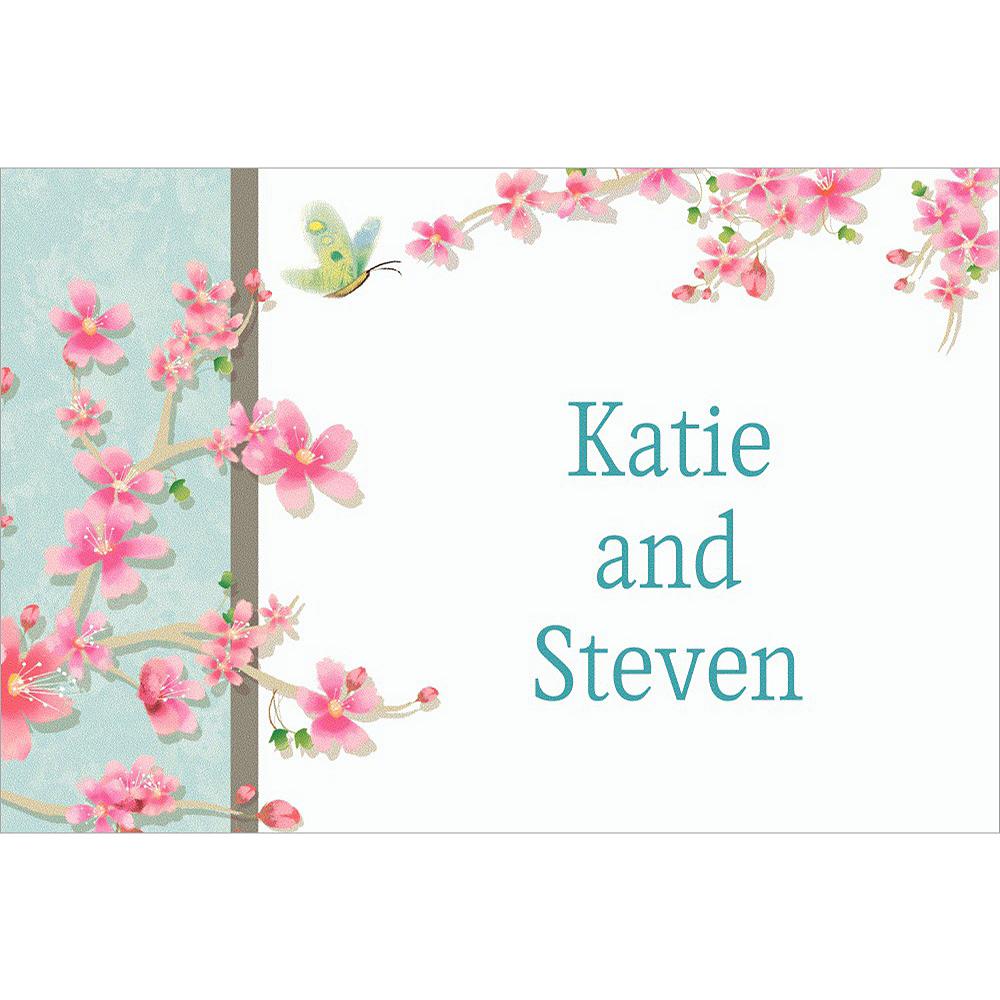 Custom Cherry Blossom Love Wedding Thank You Notes Image #1